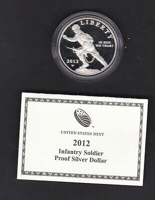 USA. 2012 silver uncirculated Proof dollar coin