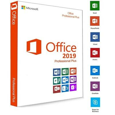 Microsoft Office  2019 Pro 32/64 Bit Instant Delivery Mail Key One Pc