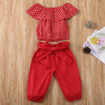 Infant Baby Girl Summer Clothes Sleeveless Short Top + Leggings Trousers Outfits