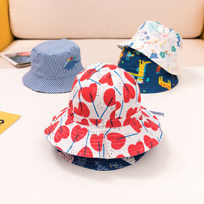 Newborn Baby Sun Hat Boy Girl Toddler Kids Summer Beach Hat Bucket Cap 0-10 year