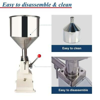 5-50ml Manual Bottled Water Filling Machine Liquid&Paste For Filling Cream A03