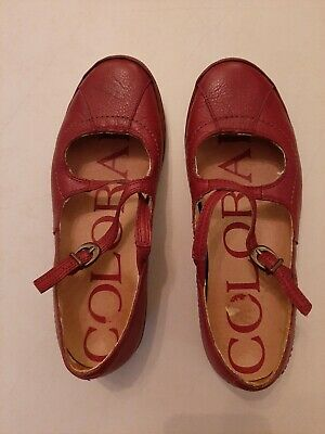 Womens Maroon/Red Colorado Leather Mary Jane Shoes Size 7 -Excellent Condition