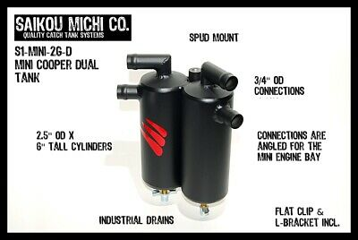Saikou Michi Dual Oil Catch Can N14 MINI Cooper S R55 R56 R57 R58 R59- WITH HOSE