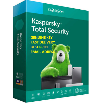 Kaspersky Total Security 2 Years 2 Devices Global Key 2020