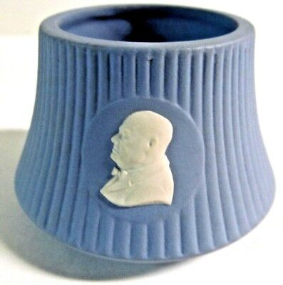 "Wedgwood Jasperware Blue/White "" Churchill "" Master Salt Cellar"
