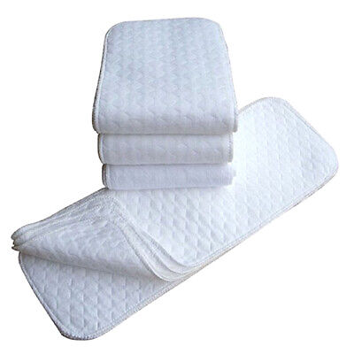 10 Pieces Reusable Washable Inserts Boosters Liners For Real Pocket Cloth Nappy