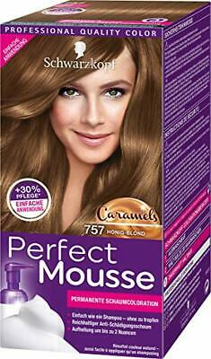 3x Schwarzkopf Perfect Mousse 757 Honig Blond Permanente Schaumcoloration