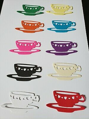 Tea Cup Bare Chipboard Die Cuts Embellishments {4} TEACUP /& SAUCER