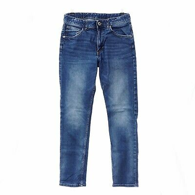 H&M Boys Mid Wash Blue Stretch Denim Relaxed Tapered Fit Jeans Size 12 -13 Years