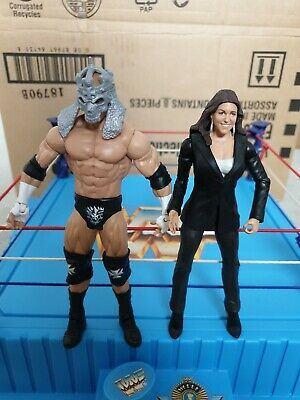 WWF WWE Basic Mattel Wrestling Figures Bundle Rare Triple H Steph McMahon