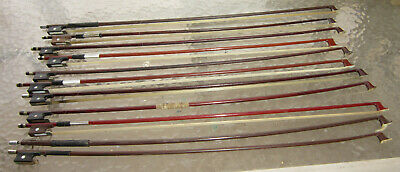 Lot of 11 antique and vintage 4/4 violin bows - many years collection