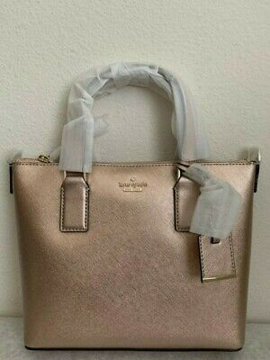 NWT KATE SPADE Cameron Street Lucie Leather Crossbody Bag Rose Gold PXRU7698