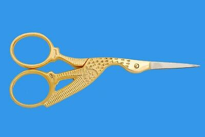 Embroidery Scissors Stainless Steel Small Sewing Sharp Shears Gold Platted