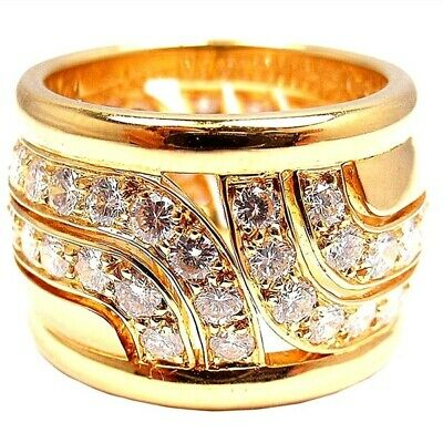 18k Yellow Gold Plated Women Ring White Sapphire Wedding Ring Size 10