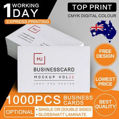 1000 Business Cards [550 micron Business card printing] free design