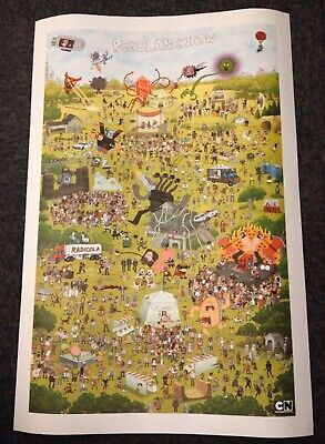 Regular Show Cartoon Network SDCC 2013 Print Limited Edition Cast Park Map
