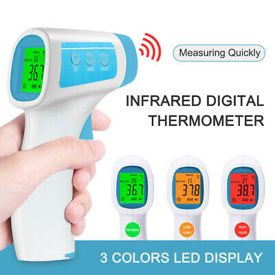 LCD Digital IR Infrared Thermometer Non-Contact Forehead Ear For Body Kids Adult