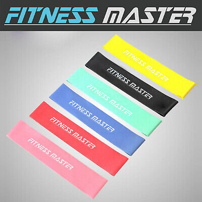 6pc Resistance Bands Loop Power Band Exercise Crossfit Strength Fitness GYM Yoga