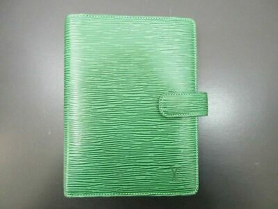 Authentic Louis Vuitton Epi Agenda MM R20044 Day Planner Cover Green 81864
