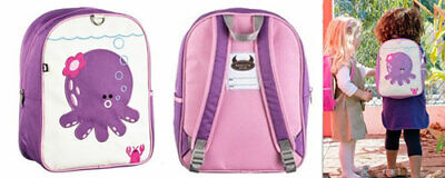 Beatrix Ny Kids Backpack Penelope The Octopus New Rrp $60