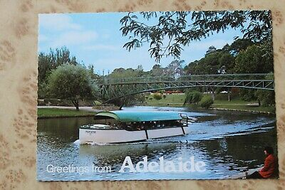 Adelaide's Famous Popeye Boat On River Torrens Vintage Postcard - Gloss Print