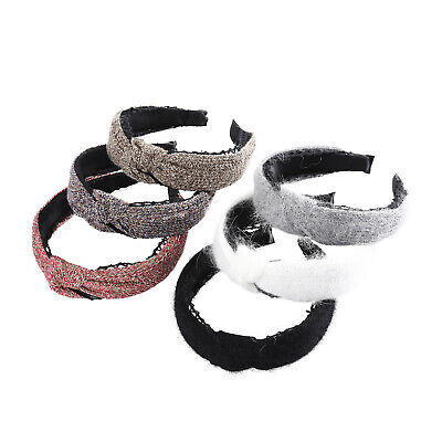 Ladies Tie Headband Hairband Knit Lace Wide Alice Hair Band Accessories Casual