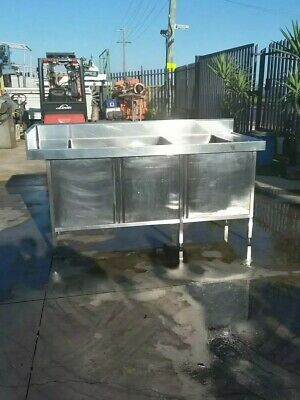 Stainless Steel Double Sink Cabinet