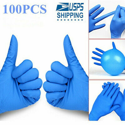 Disposable Nitrile Exam Dental Gloves Powder/Latex Free Strong Size M/L US SHIP