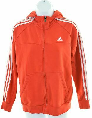 ADIDAS Girls Hoodie Sweater 13-14 Years Red Cotton  LS07