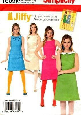 Simplicity Sewing Pattern 1609 Misses Dress 6, 8, 10, 12, 14 NEW