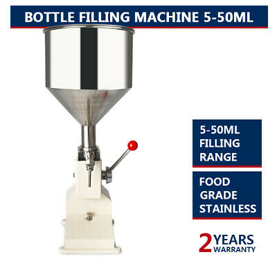 Manual Bottled Water Filling Machine Liquid&Paste For Filling Cream 5-50ML A03