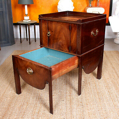 Antique Georgian Commode Cabinet George IV Country Cupboard Drawers Mahogany