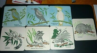Collectable beer coasters: Set of 7 Australian native animal coasters