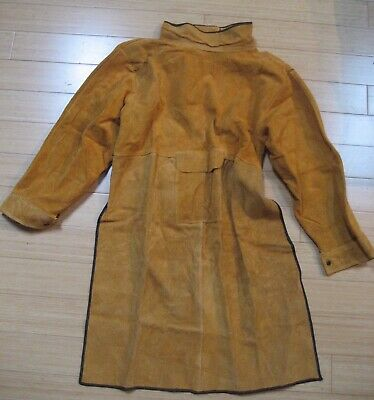 Leather Welding Coat Protective Apron Ping Guo ••SOME WEAR••