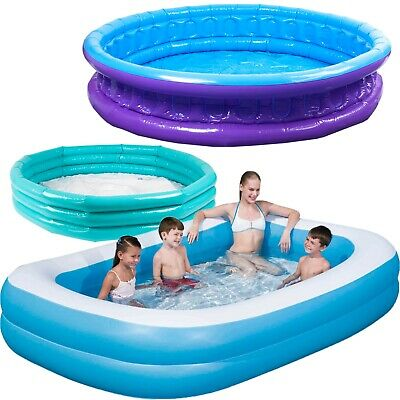 Large & Small Paddling Garden Pool Kids Fun Family Swimming Outdoor Inflatable