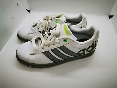 Womens white / grey adidas trainers size 4
