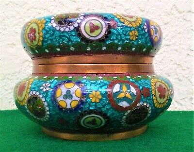 Fabulous Antique Cloisonne Box or Casket Handmade With Fitted Top