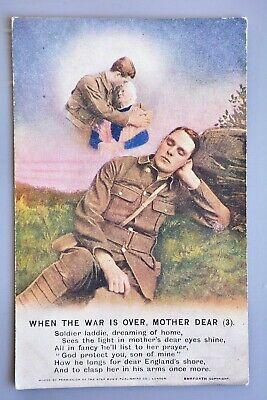 R&L Postcard: Bamforth Song 4905/3 When the War is Over Mother Dear, WW1