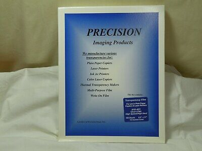 """Precision Transparency Film 10-421, Clear, Durable 5 Mil, 8.5""""x11"""", 100 Sheets"""
