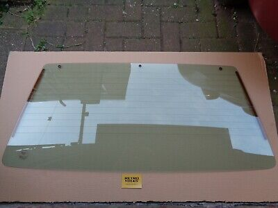 VW Mk2 Golf - Boot Lid / Tailgate Heated Rear Window Glass - With Spoiler Holes