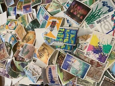 Japan lot 100+ pcs OFF paper - ALL DIFFERENT - japanese stamps collection - pics