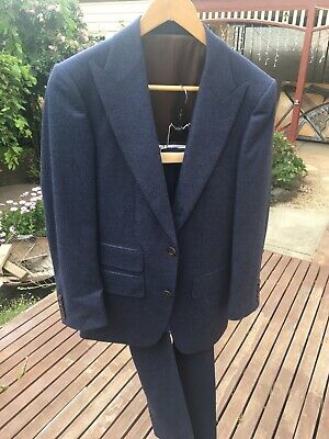 Suitsupply Washington PURE WOOL Extra Slim Fit Blue Check RRP 500USD Size 42/32