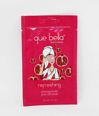 Que Bella Refreshing Pomegranate Peel-Off Mask 0.5 Ounce (Pack of 3)