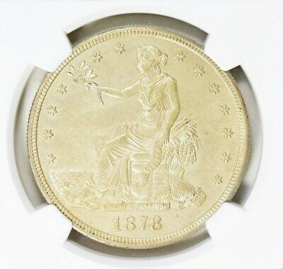 1878-S Trade Dollar NGC Unc Details Silver Dollar Nice Uncirculated Type Coin