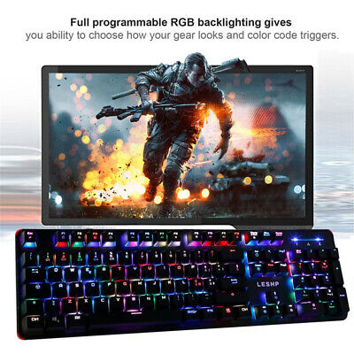 Gaming Keyboard Bluetooth For PS4 Xbox Laptop PC Wired Ergonomic USB Backlit LED