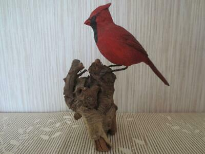 Vintage Hand-Carved Hand-Painted Cardinal Signed by W. B. Huffman 1989