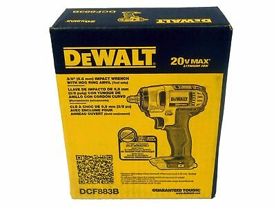 "Dewalt DCF883B 20V Max 3//8/"" Impact Wrench W//Hog Ring Anvil NIB Sealed Bare tool"