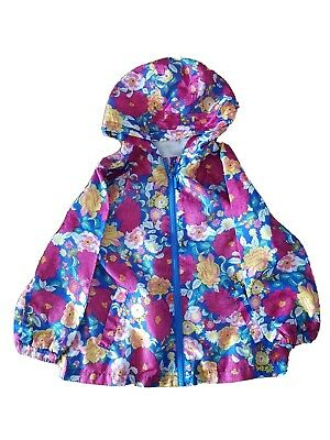 Girls Children's Floral Pink Blue Raincoat Jacket Age 6 Years Sweet Millie BHS