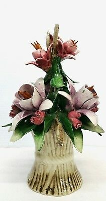 Vintage Capodimonte Italy Flower Bouquet W/ Certificate of Authenticity