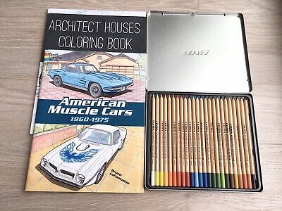 REMBRANDT LYRA Coloured Pencils POLYCOLOR 24 colours For Artists With 2 Books